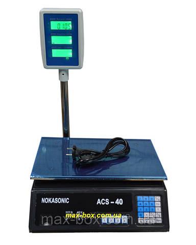 Весы торговые электронные ACS 40 D1