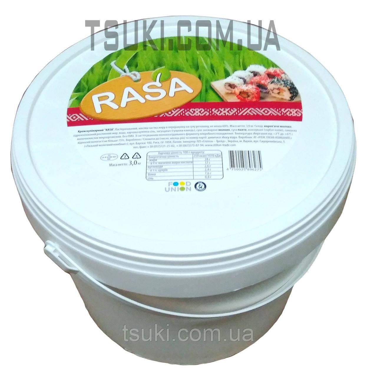 "Крем сыр для суши ""RASA"" 60% 3кг."