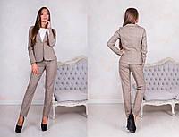 Женский классический брючный костюм: пиджак и брюки (+ большие рзамеры)