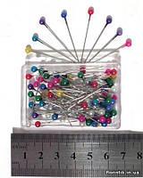 Набор декоративных булавок, 4 х 33 мм., перламутр, 9 цветов