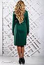Платье трикотажное большого размера зелёное, фото 5