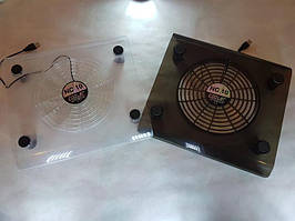 Прозрачная охлаждающая подставка под ноутбук Fan Laptop Cooler RX-830, подставка для ноутбука с охлаждением t4