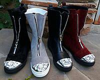 Женские ботинки КОЖА гламур, фото 1