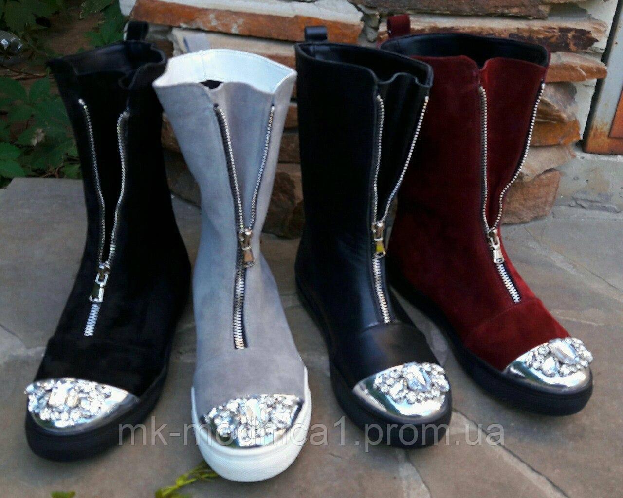 Женские ботинки КОЖА гламур