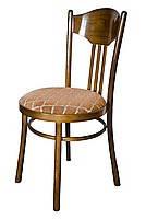 Стул деревянный с круглым мягким сиденьем