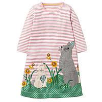 Дитяче трикотажне плаття туніка Кролики