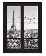 Наклейка виниловая Пейзаж окно в Париж 3D декор