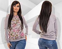 Женская кофта (42-44,44-46) — Французский трикотаж купить оптом и в Розницу в одессе 7км