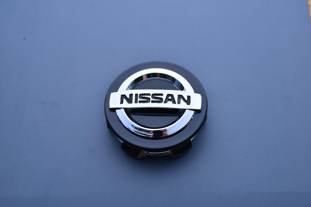 Колпачки заглушки на диск в диск Nissan Ниссан 60/56/16 черные