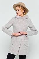 Женское модное пальто на осень с капюшоном