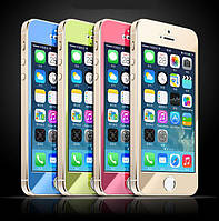 Цветное защитное стекло for iPhone 5/5S (0.3mm soft edge), red (TGSPi5S-CRD) Yoobao