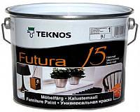 Эмаль уретан-алкидная TEKNOS FUTURA 15 быстросохнущая белый (база 1) 9л