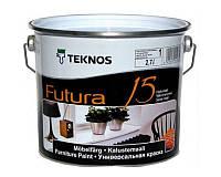 Эмаль уретан-алкидная TEKNOS FUTURA 15 быстросохнущая белый (база 1) 2,7л