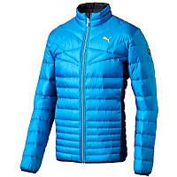 Куртка спортивная мужская Puma Active 600 833821 10 (светло-синяя, зимняя, пуховик, стойка, с логотипом пума)
