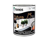 Эмаль уретан-алкидная TEKNOS FUTURA 15 быстросохнущая транспарентная (база 3) 0,9л