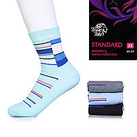 Узорные носки женские от украинского производителя Твiнс Текс 2111-020 (12 ед. в упаковке)