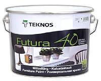 Эмаль уретан-алкидная TEKNOS FUTURA 40 универсальная белый (база 1) 9л