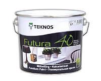 Эмаль уретан-алкидная TEKNOS FUTURA 40 универсальная белый (база 1) 2,7л