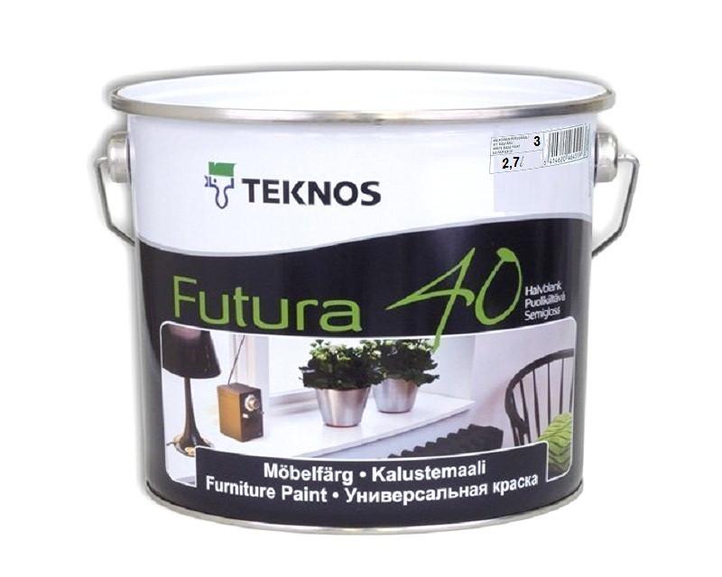 Эмаль уретан-алкидная TEKNOS FUTURA 40 универсальная транспарентная (база 3) 2,7л