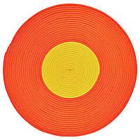 STICKAT Ковер, плетеный, оранжевый, желтый