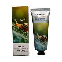 Крем для рук с экстрактом улитки FarmStay Visible Snail Hand Cream