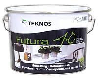 Эмаль уретан-алкидная TEKNOS FUTURA 40 универсальная транспарентная (база 3) 9л