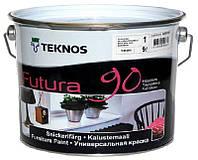 Эмаль уретан-алкидная TEKNOS FUTURA 90 ударопрочная белый (база 1) 9л