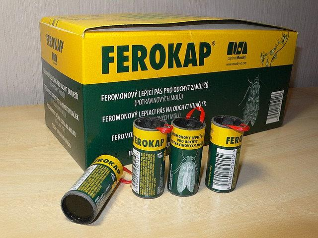 Липкая лента от моли Ферокап (Чехия) - Эффективная борьба с бытовой молью,1,2,3