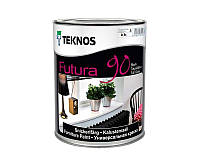 Эмаль уретан-алкидная TEKNOS FUTURA 90 ударопрочная транспарентная (база 3) 0,9л