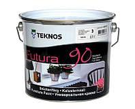 Эмаль уретан-алкидная TEKNOS FUTURA 90 ударопрочная транспарентная (база 3) 2,7л