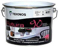 Эмаль уретан-алкидная TEKNOS FUTURA 90 ударопрочная транспарентная (база 3) 9л