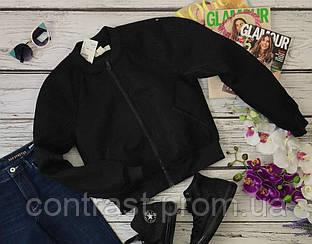 Модная куртка-бомбер с рукавом-реглан и декоративной сеткой  OW3650