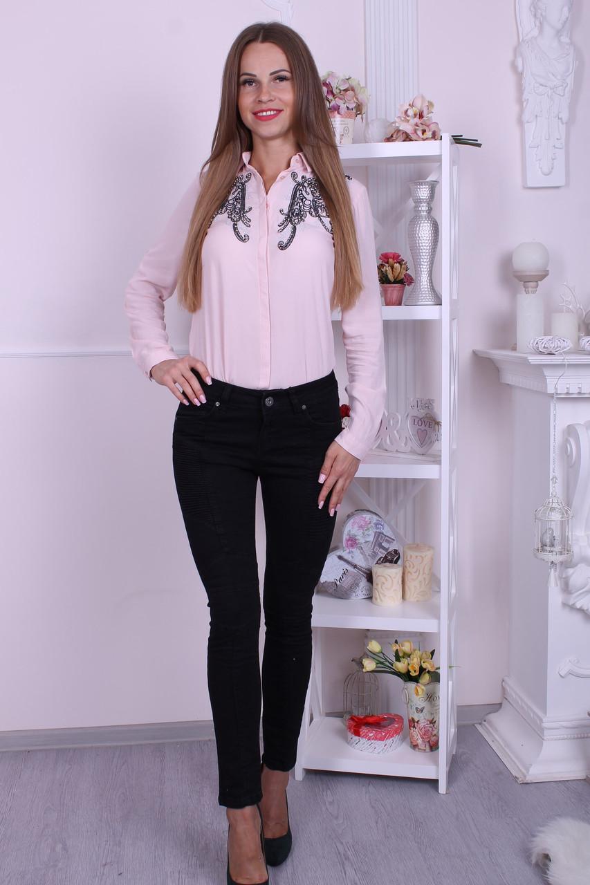 Черные женские джинсы balmain(реплика)