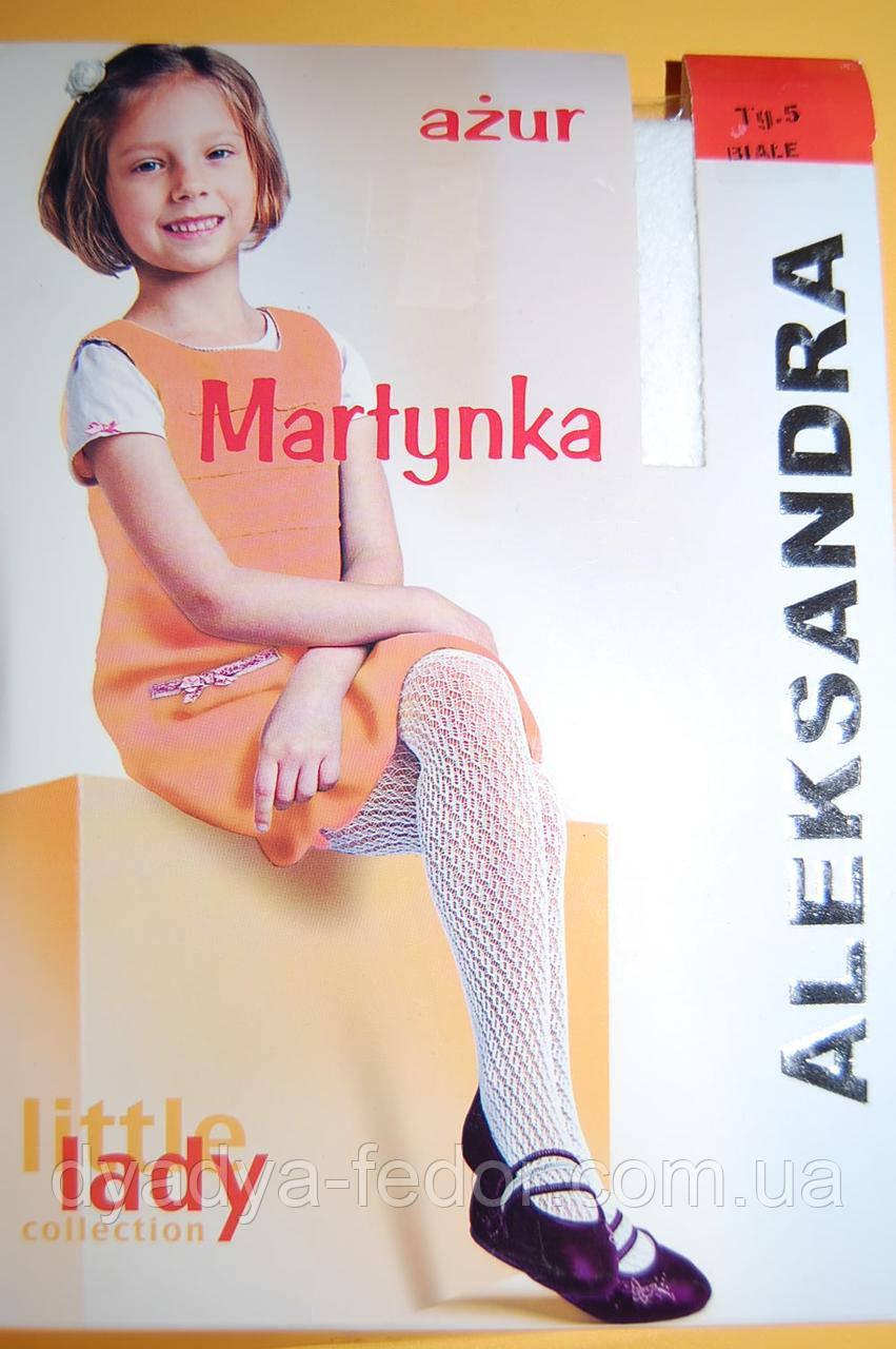Колготки ажурные белые детские ТМ Aleksandra Martynka