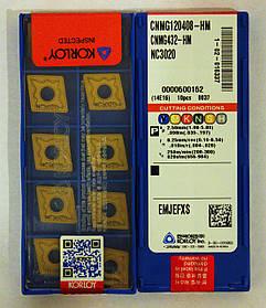 Пластина KORLOY СNMG 120408 HM NC3020