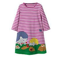 Дитяче трикотажне плаття туніка Їжаки