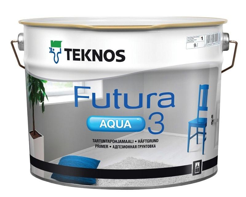 Грунт алкидный TEKNOS FUTURA AQUA 3 водоразбавляемый белый (база 1) 9л