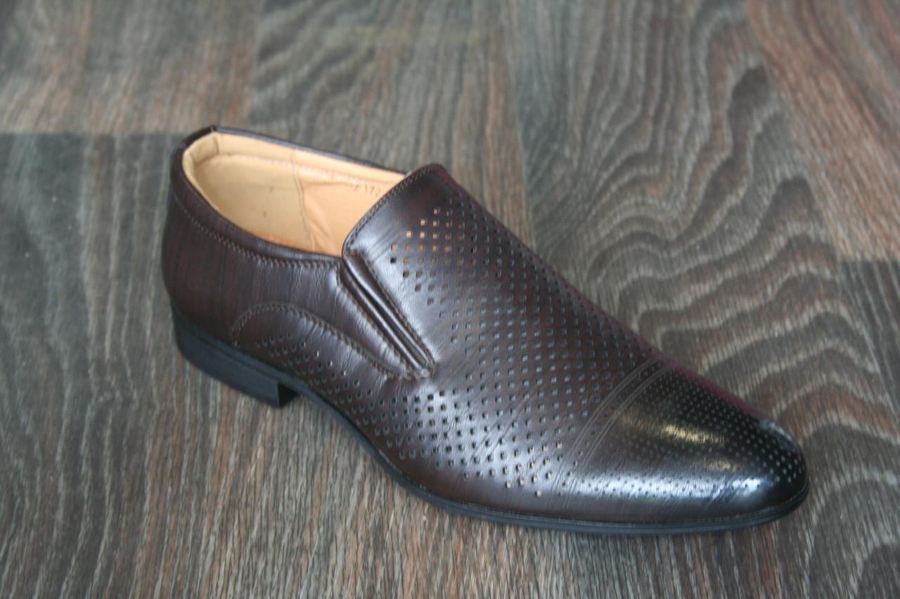 Туфли мужские с перфорацией
