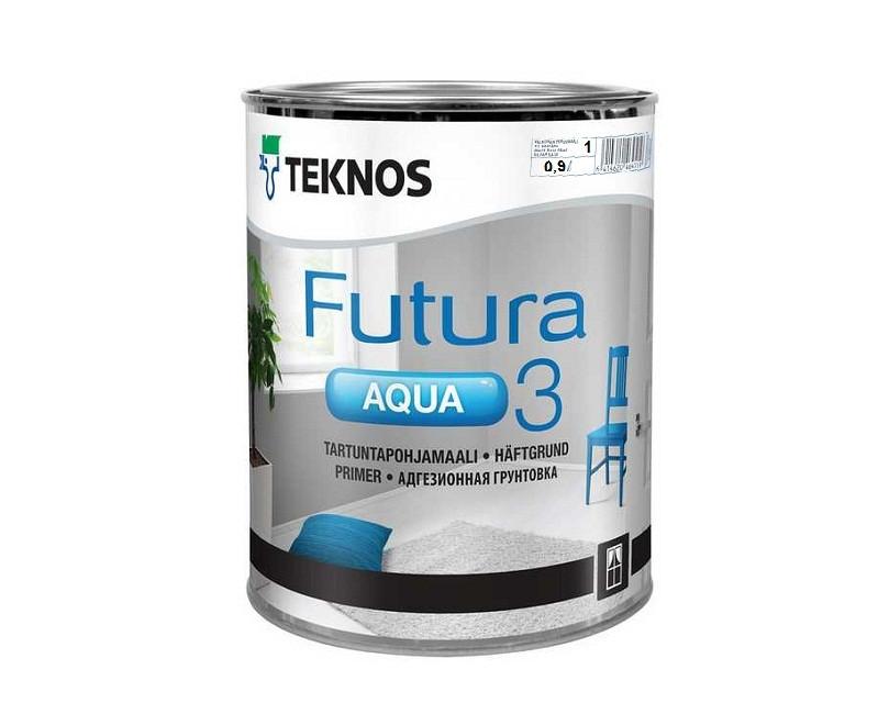 Грунт алкидный TEKNOS FUTURA AQUA 3 водоразбавляемый белый (база 1) 0,9л
