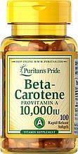 Витамин А, Puritan's Pride Beta-Carotene 10,000 IU 100 Softgels