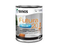 Краска уретан-алкидная TEKNOS FUTURA AQUA 20 водоразбавляемая белая (база1) 0,9л