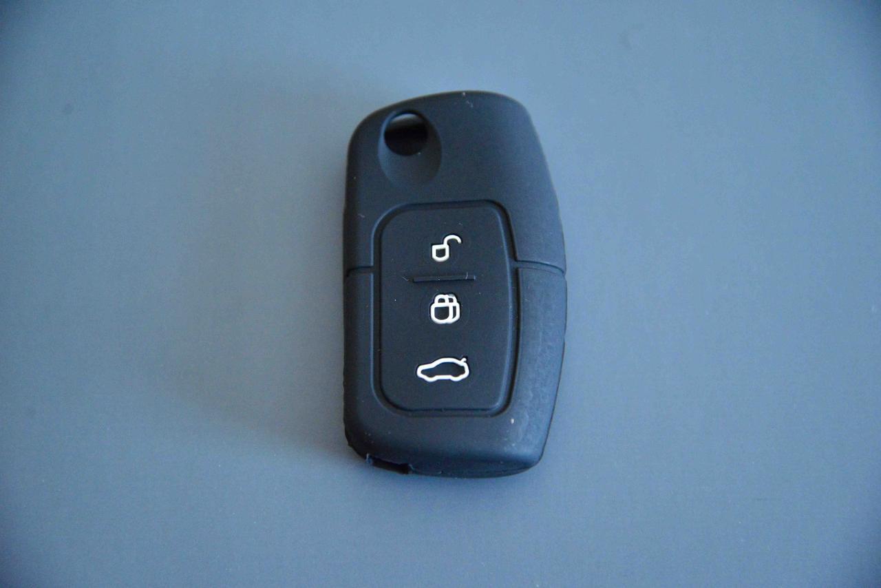 Чехол на ключФорд Ford Fiesta,Focus,Mondeo ( Фиеста, Фокус ) корпус 3 - кнопки