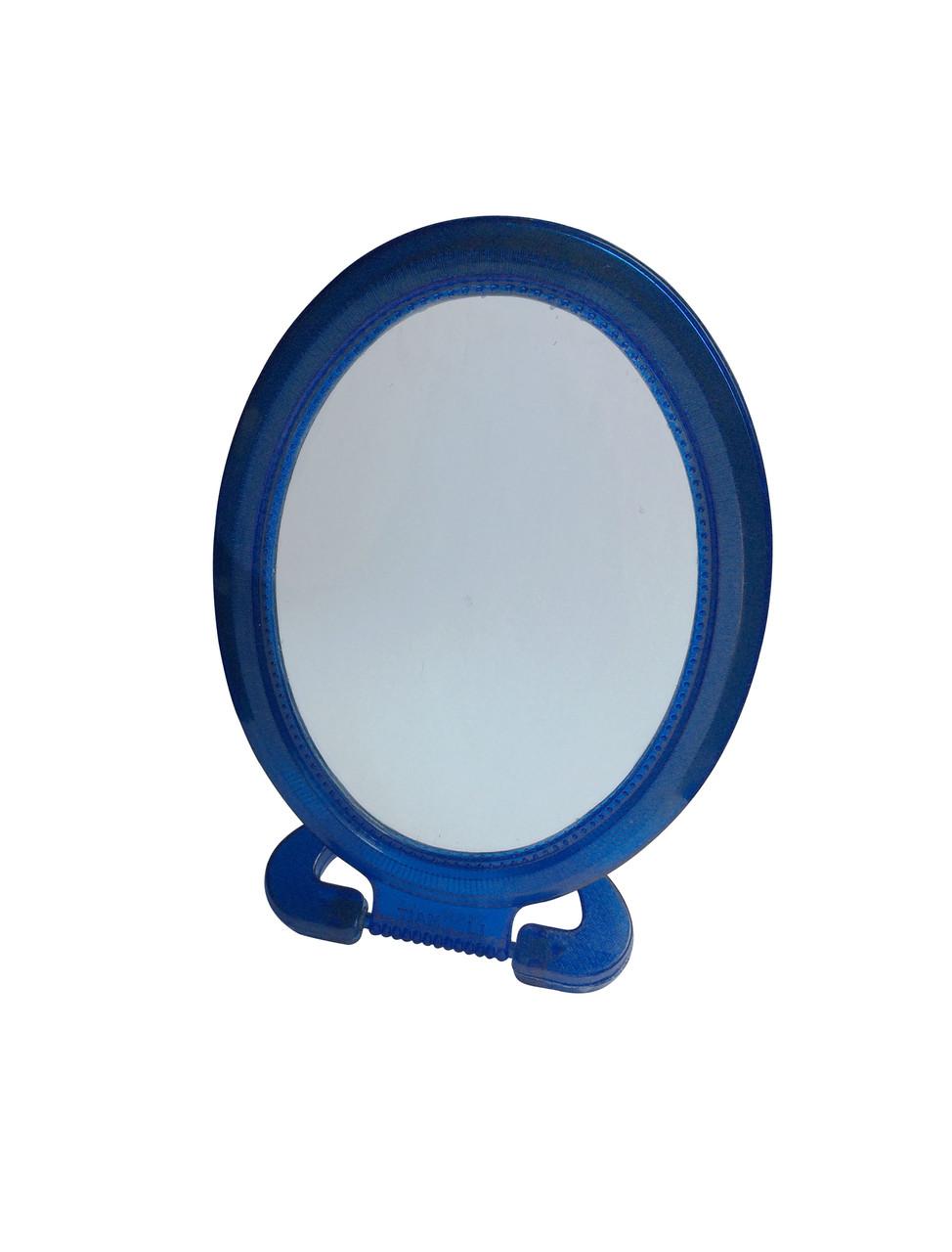 Зеркало косметическое овальное одностороннее малое на фигурной подставке 165мм