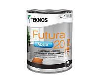 Краска уретан-алкидная TEKNOS FUTURA AQUA 20 водоразбавляемая транспарентная (база 3) 0,9л