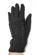 Стрейч+ вязка Средние черные. Размер 7.5 WAB-162011s2, фото 3