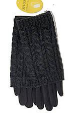 Стрейч+ вязка Средние черные. Размер 7.5 WAB-162011s2, фото 2