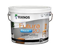 Краска уретан-алкидная TEKNOS FUTURA AQUA 20 водоразбавляемая транспарентная (база 3) 2,7л