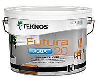 Краска уретан-алкидная TEKNOS FUTURA AQUA 20 водоразбавляемая транспарентная (база 3) 9л