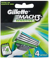 Бритвенные лезвия Gillette Mach3 Sensitive в упаковке 4 шт.