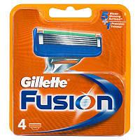 Бритвенные лезвия Gillette Fusion в упаковке 4 шт.